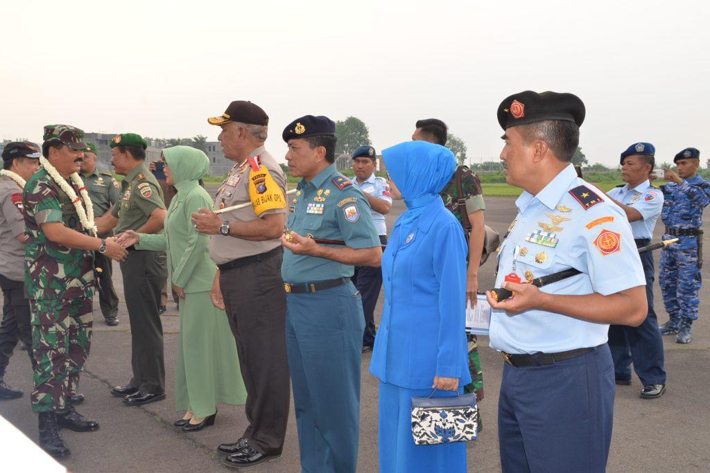 Panglima Kosekhanudnas III Sambut Kedatangan Panglima TNI, Kapolri dan Kasad