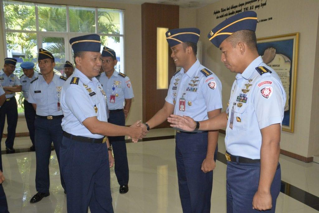 Acara Pelaporan Kenaikan Pangkat Perwira  di Makoopsau II
