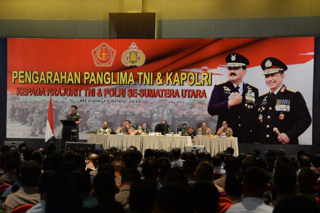 Pangarahan Panglima TNI dan Kapolri Kepada Prajurit TNI/POLRI Se-Sumatera Utara