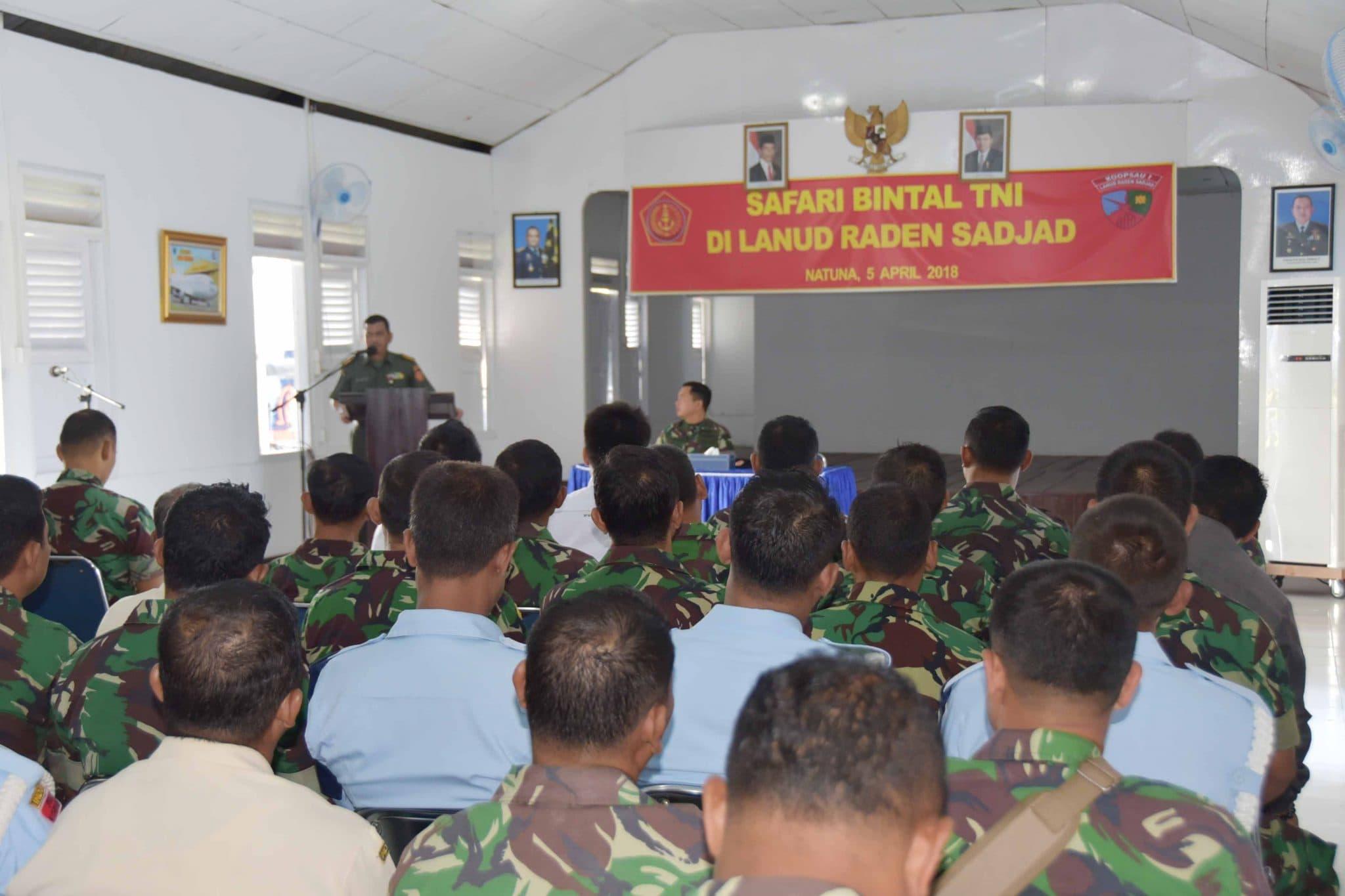 SAFARI BINTAL TNI DI LANUD RADEN SADJAD
