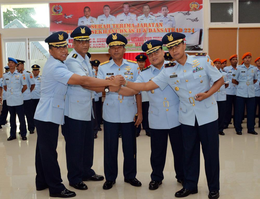 Pangkosekhanudnas II Pimpin Sertijab Asisten Personel dan Komandan Satrad 224 Kwandang