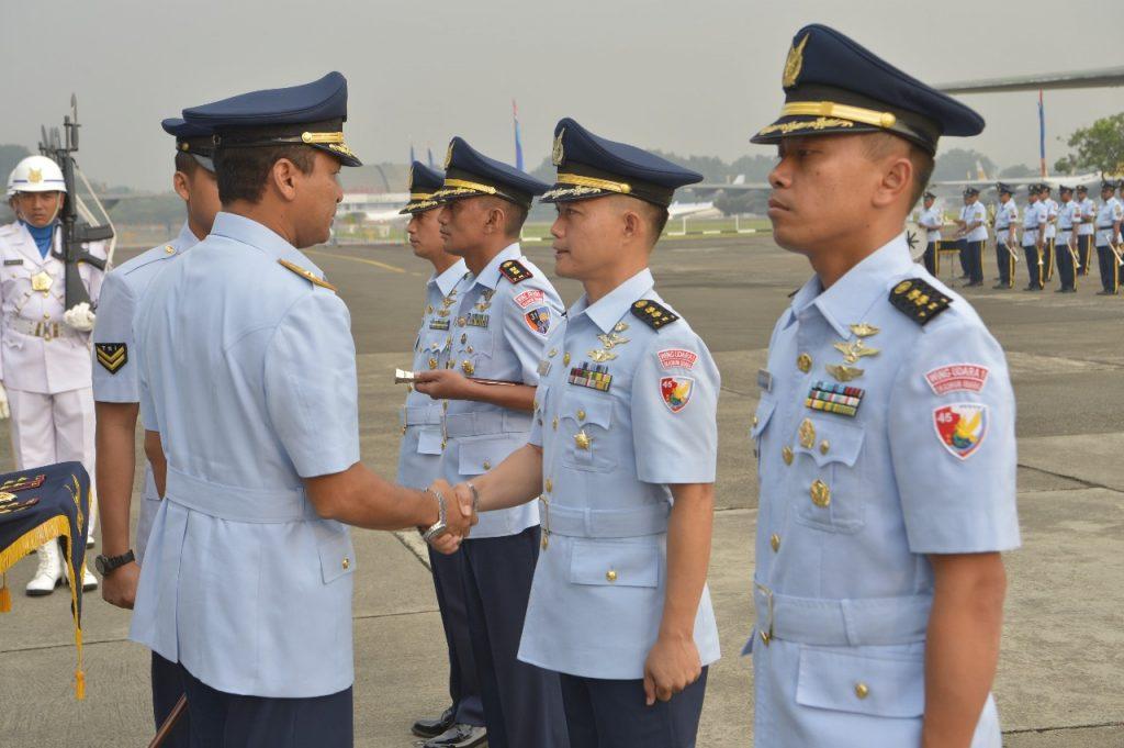 Dua Komandan Skadron Lanud Halim Perdanakusuma Diserahterimakan