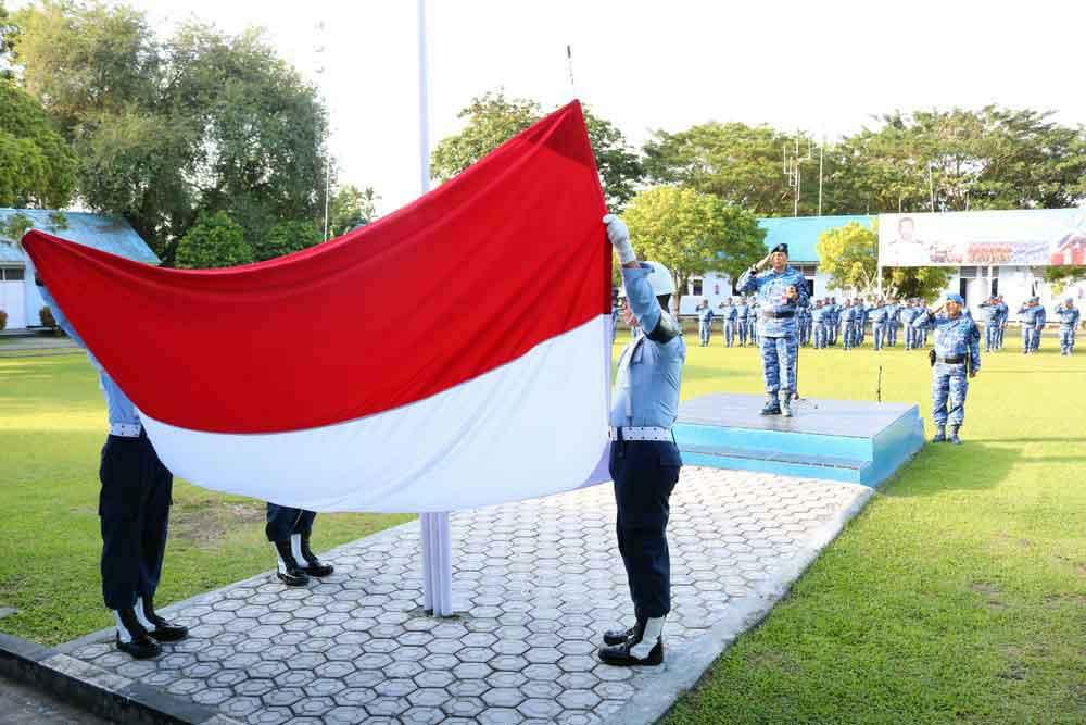 Upacara Bendera 17-an bulan April Di Lanud Jayapura
