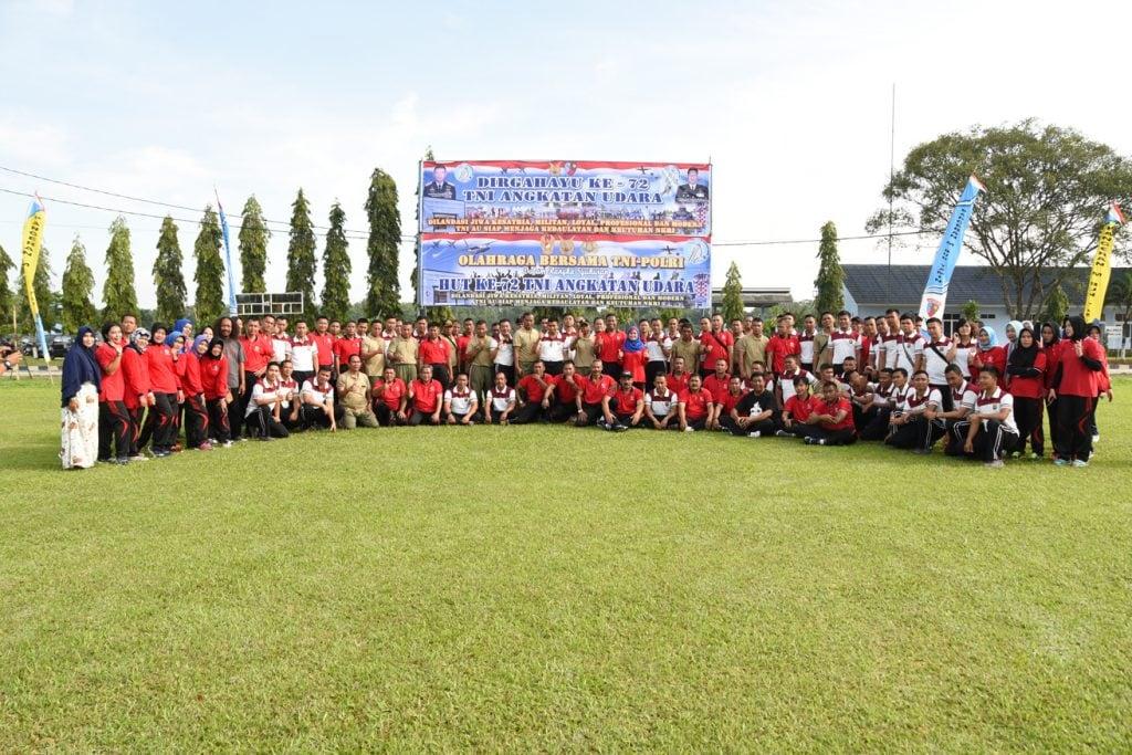 Olahraga Bersama TNI/Polri di Lanud Bny