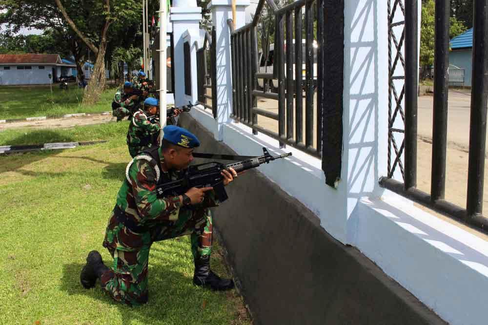 Latihan Pertahanan Pangkalan di Lanud Jayapura