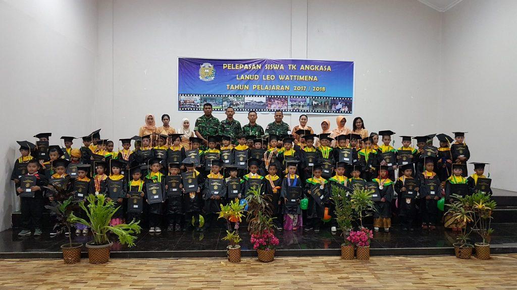 Pelepasan 62 Siswa TK Angkasa Lanud Leo Wattimena