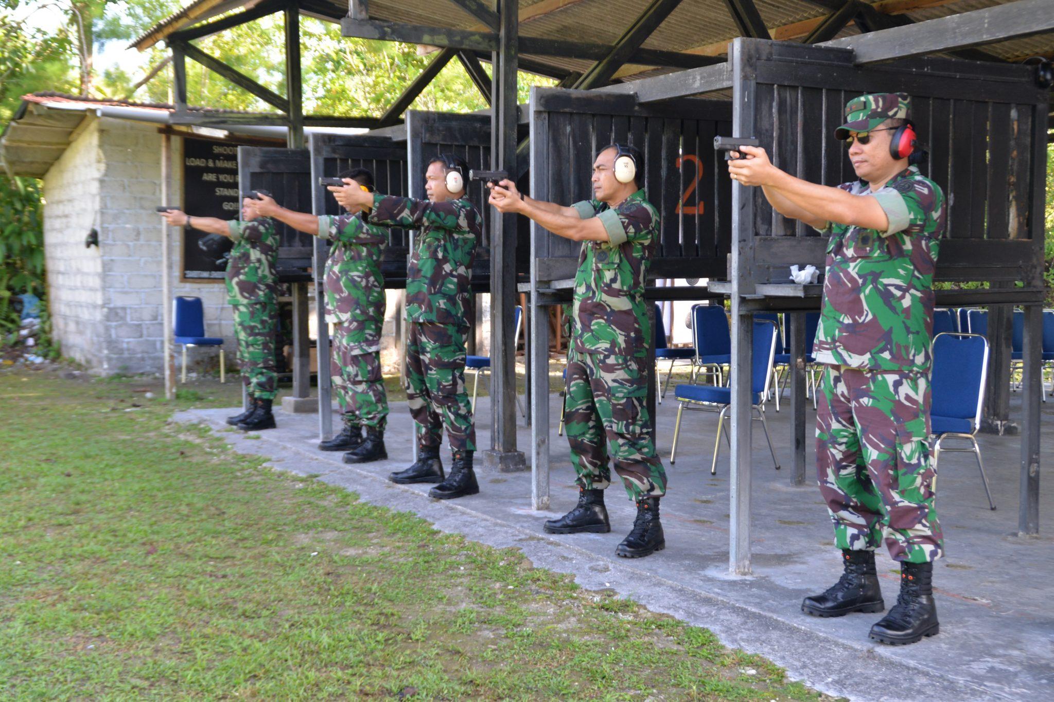 Tingkatkan Kemahiran, Personel Kosekhanudnas IV Latihan Menembak