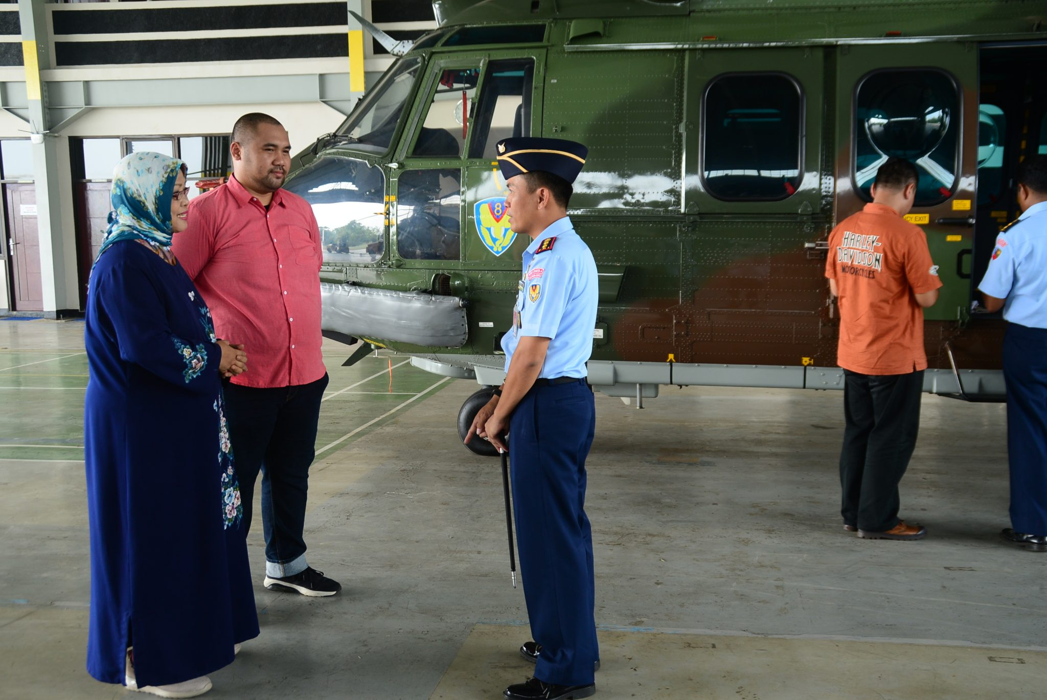 Danskadron Udara 8 Lanud Ats Terima Kunjungan Keluarga Alm. Atang Sendjaja