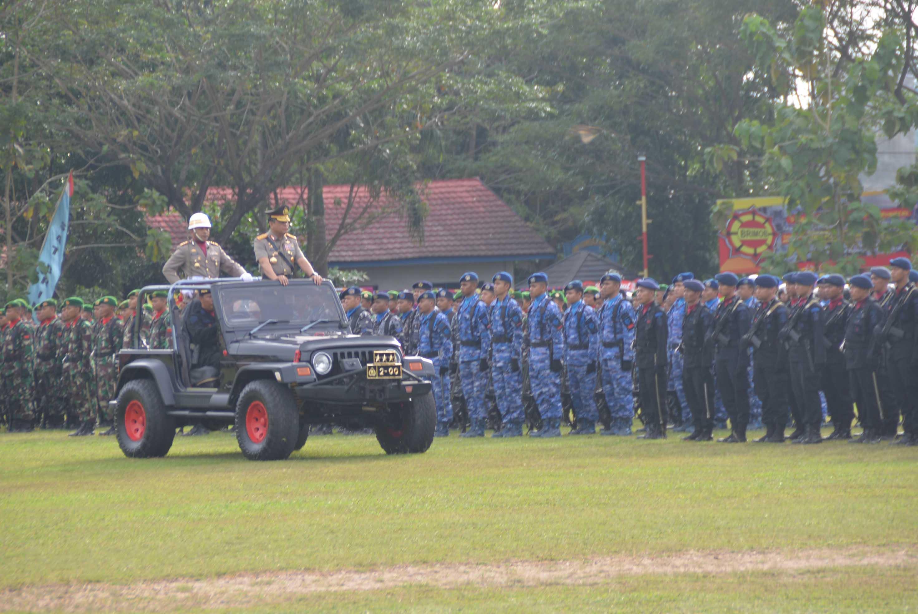Komandan Lanud Sjamsudin Noor Hadiri Upacara Pengukuhan Peningkatan Status Polda Kalsel Menjadi Polda Tipe - A