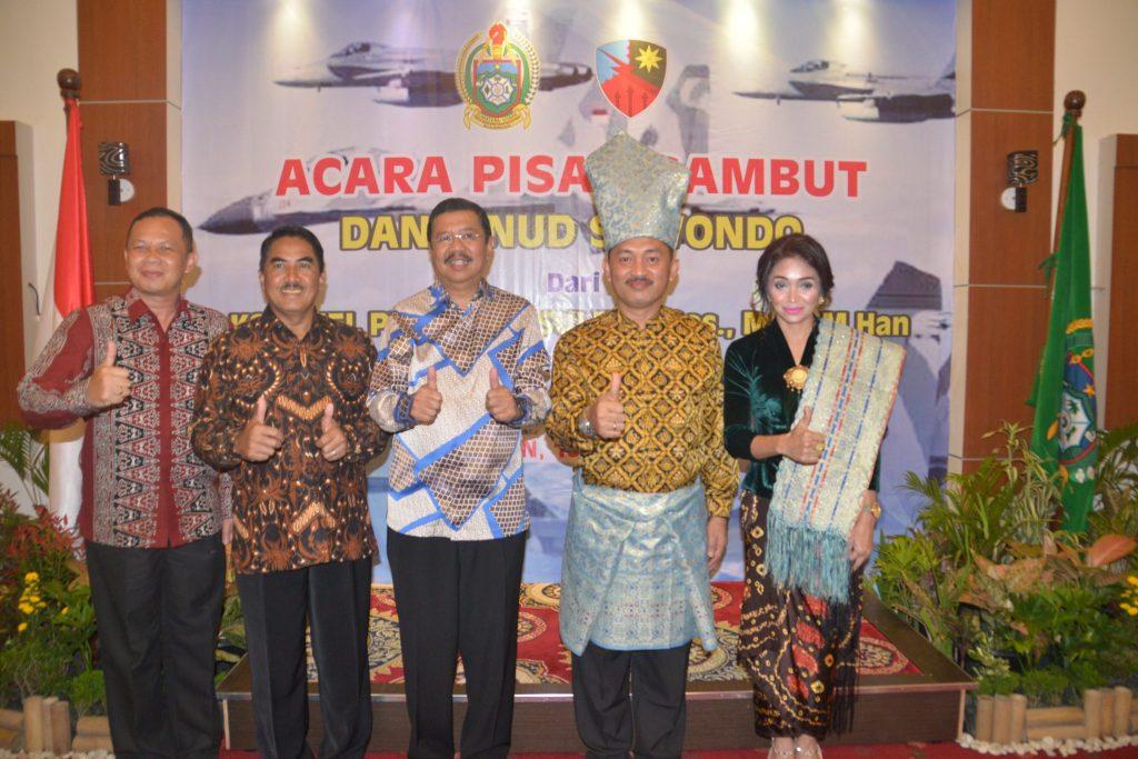 Pisah Sambut Danlanud Soewondo Dengan Gubsu Dan FKPD Di Rumah Dinas Gubernur Sumut