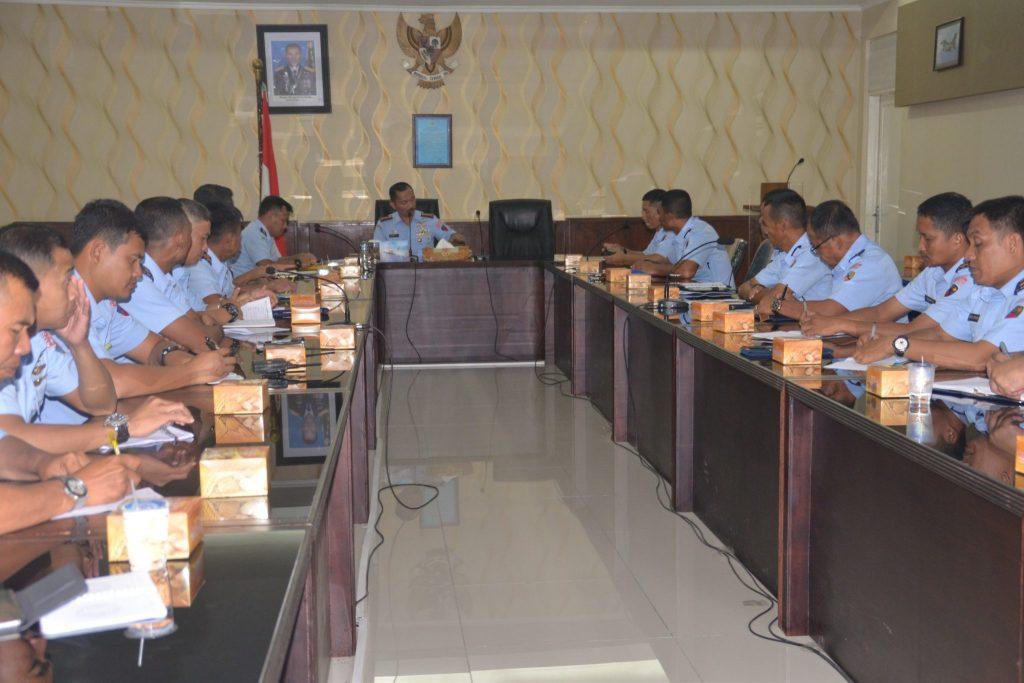 Danlanud Soewondo Laksanakan Entry Briefing