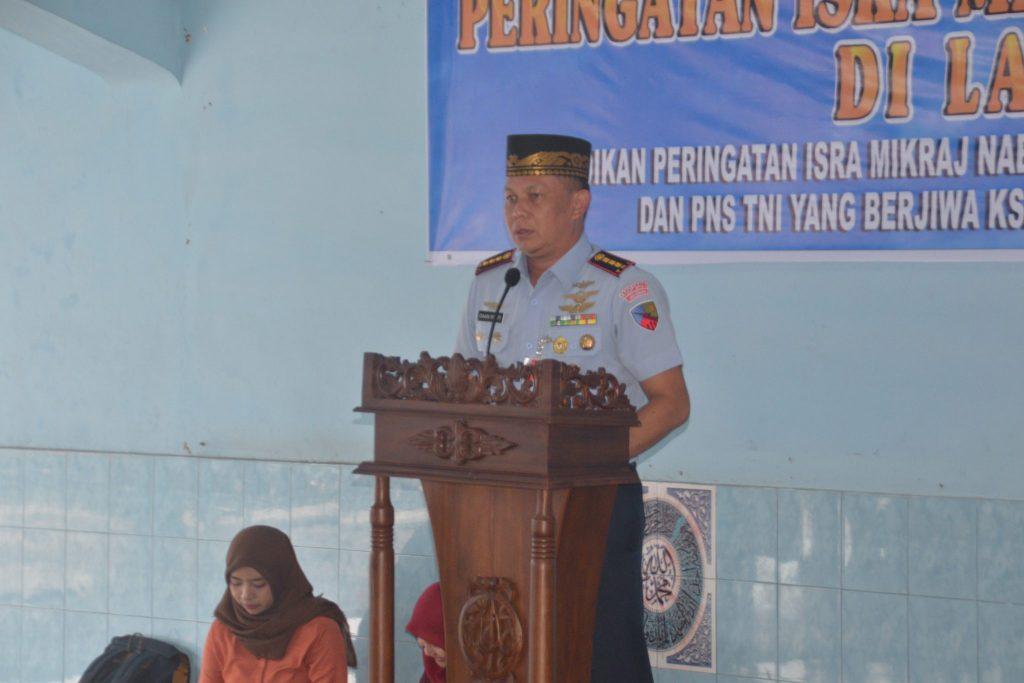 Warga TNI AU di Medan Peringati Isra Mi'raj Nabi Muhammad SAW 1439 H