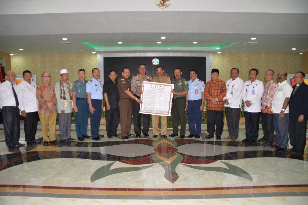 Deklarasi Damai Dalam Rangka Merajut Kebersamaan Membendung Teroris di Sumatera Utara