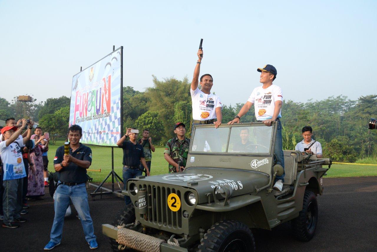 Ratusan Peserta Ikut 8K Fun Run Dan Fun Walk Meriahkan HUT 53 Skadron Udara 8