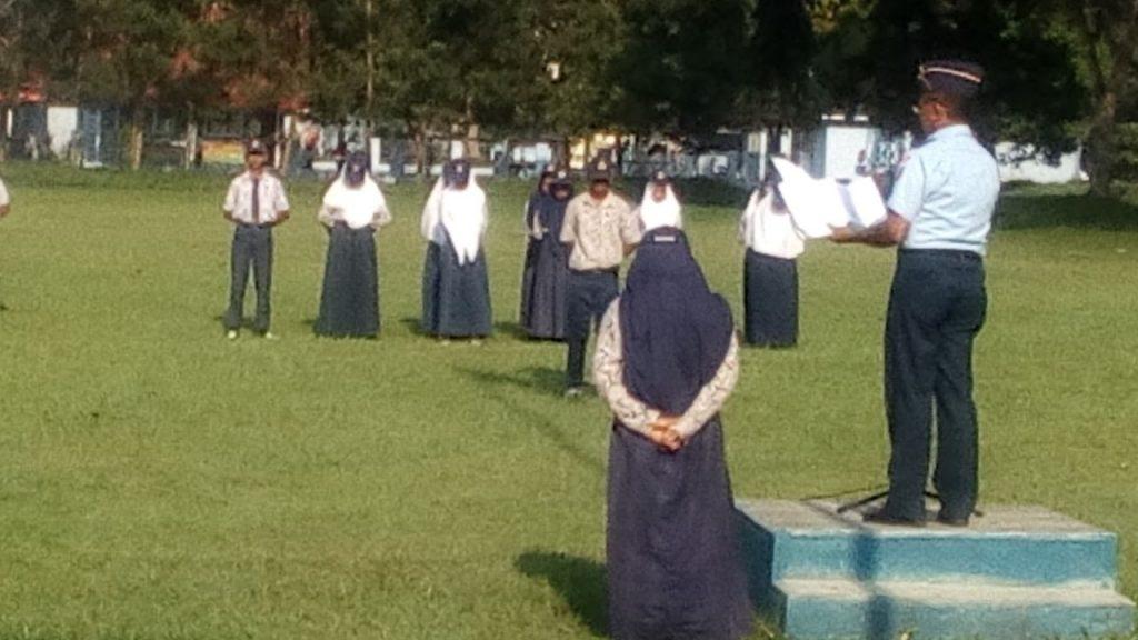 Peringatan Hardiknas di SMP Angkasa Lanud BNY