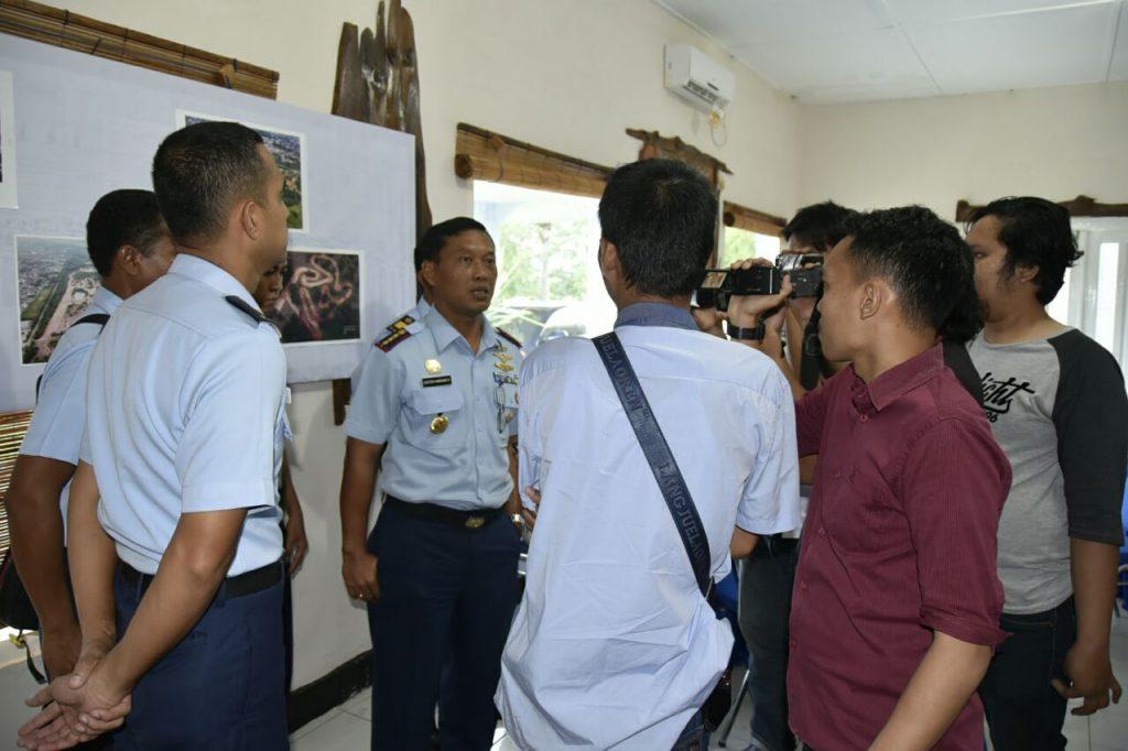 Danlanud SMH Temui Wartawan Klarifikasi Penertiban Bangunan Liar