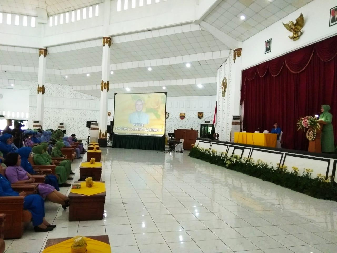PIA Ardhya Garini Cab 2 / Gab. II Lanud Adisutjipto Hadiri Pertemuan Gabungan Dharma Pertiwi Daerah D