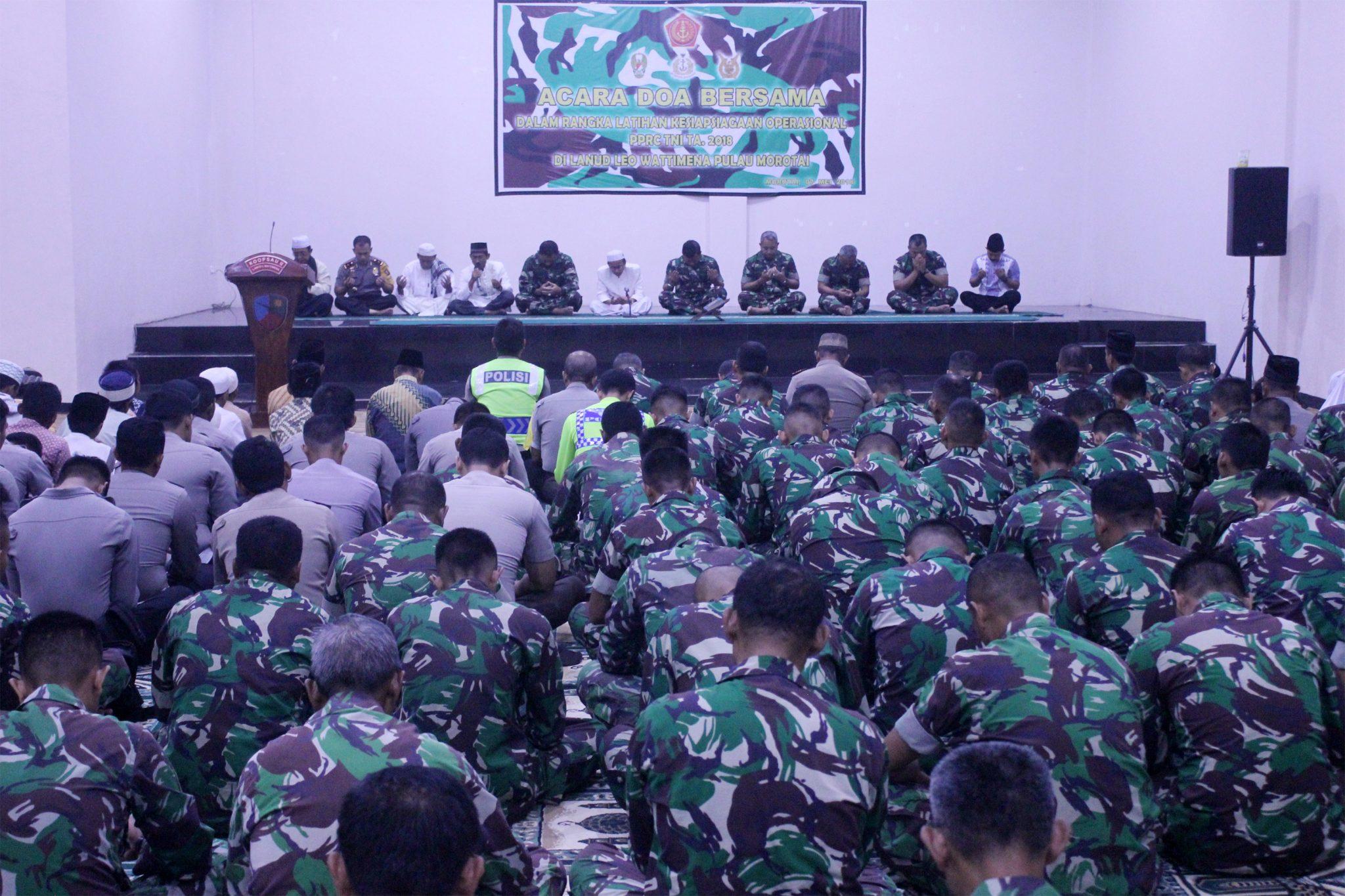 TNI Adakan Doa Bersama Dalam Rangka Latihan PPRC