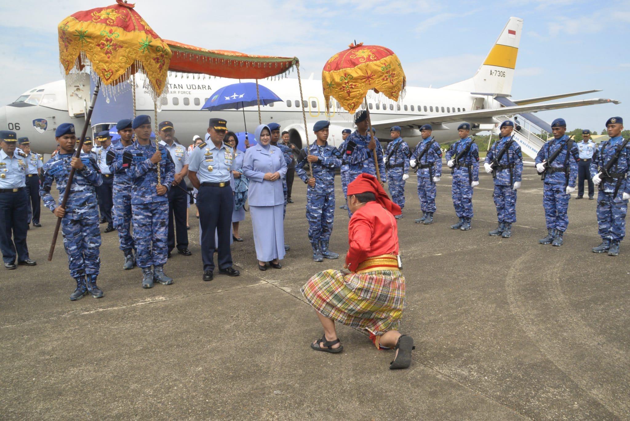 Kunjungan Kerja Kasau Di Lanud Sultan Hasanuddin
