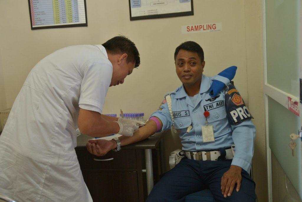 Personel Kosekhanudnas II Adakan Pemeriksaan Kesehatan