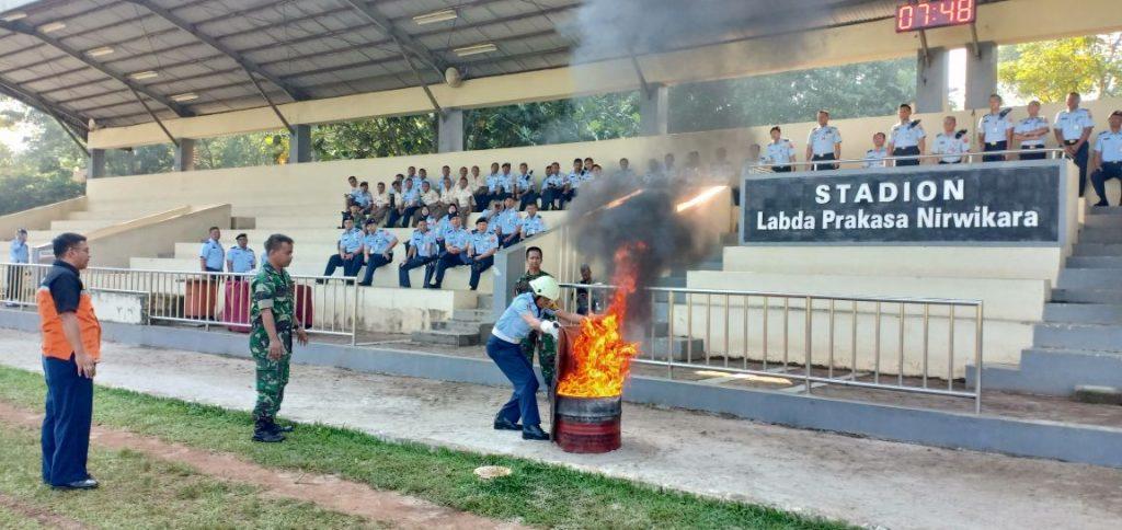 Makohanudnas Adakan Simulasi Penanggulangan Kebakaran