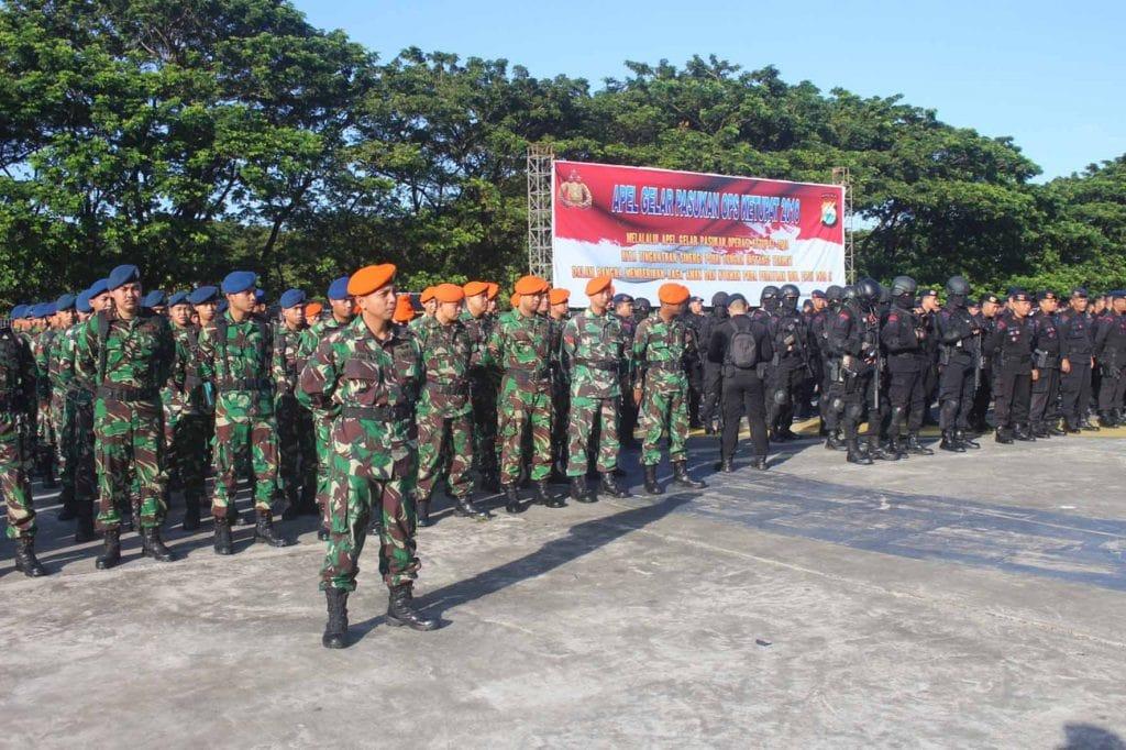 Yonko 466 Paskhas Mengikuti Apel Gelar Operasi Ketupat 2018