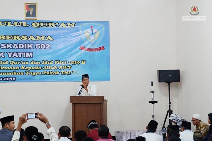 Skadik 502 Wingdikum peringati Nuzulul Qur'an dan buka puasa bersama