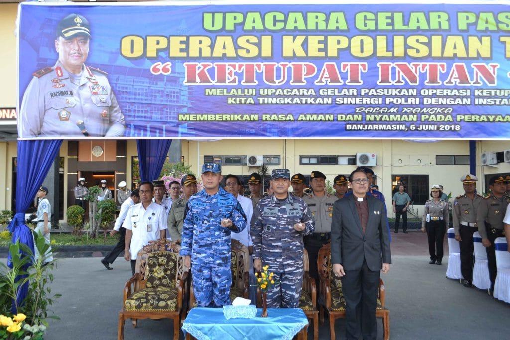 "Lanud Sjamsudin Noor Ikuti Gelar Pasukan Operasi Kepolisian ""Ketupat Intan 2018"""