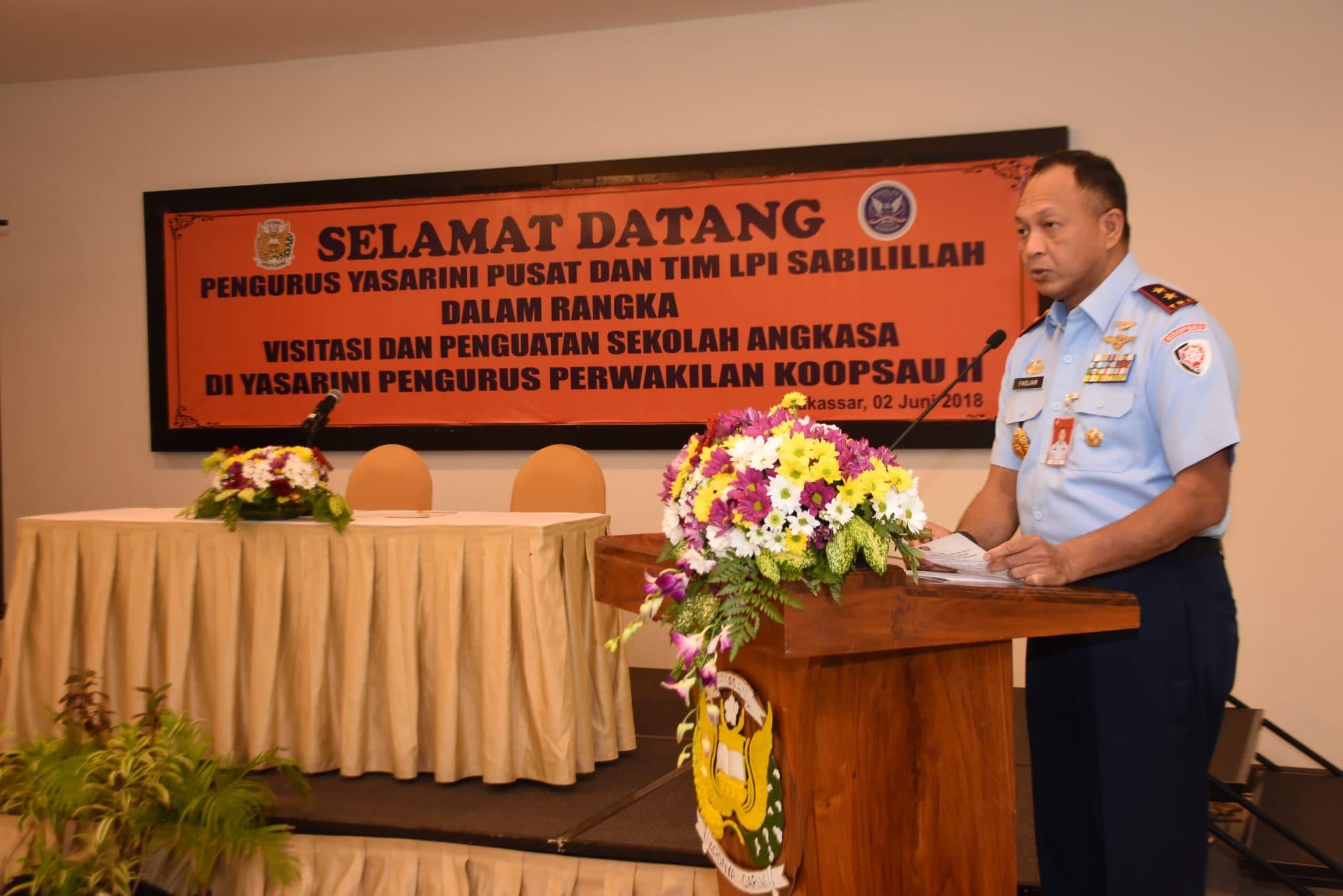 Pangkoopsau II Buka Acara Workshop Visitasi Yasarini Di Makassar