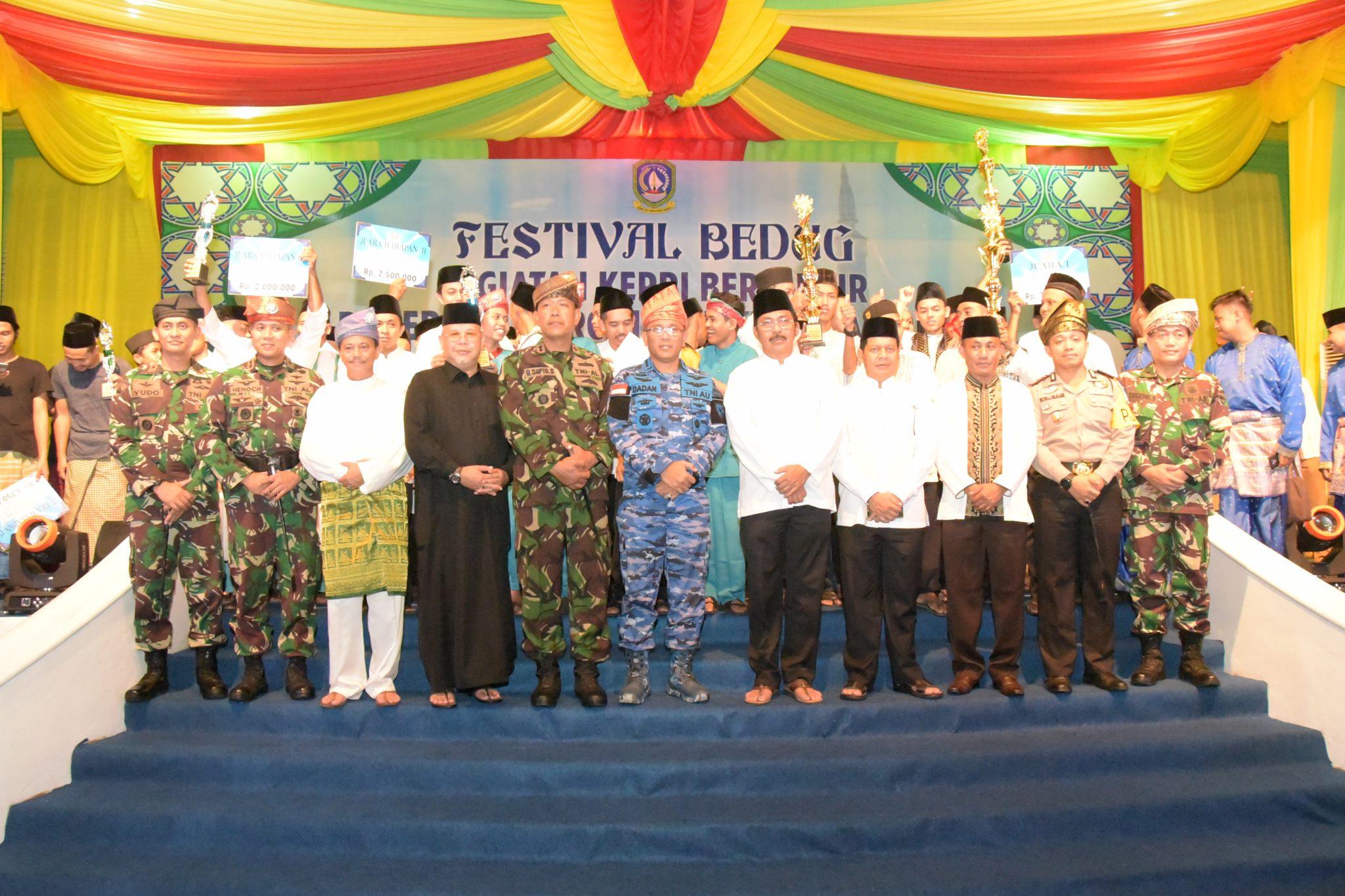 Danlanud Raja Haji Fisabilillah Apresiasi Pawai Takbir dan Festival Bedug Kepri