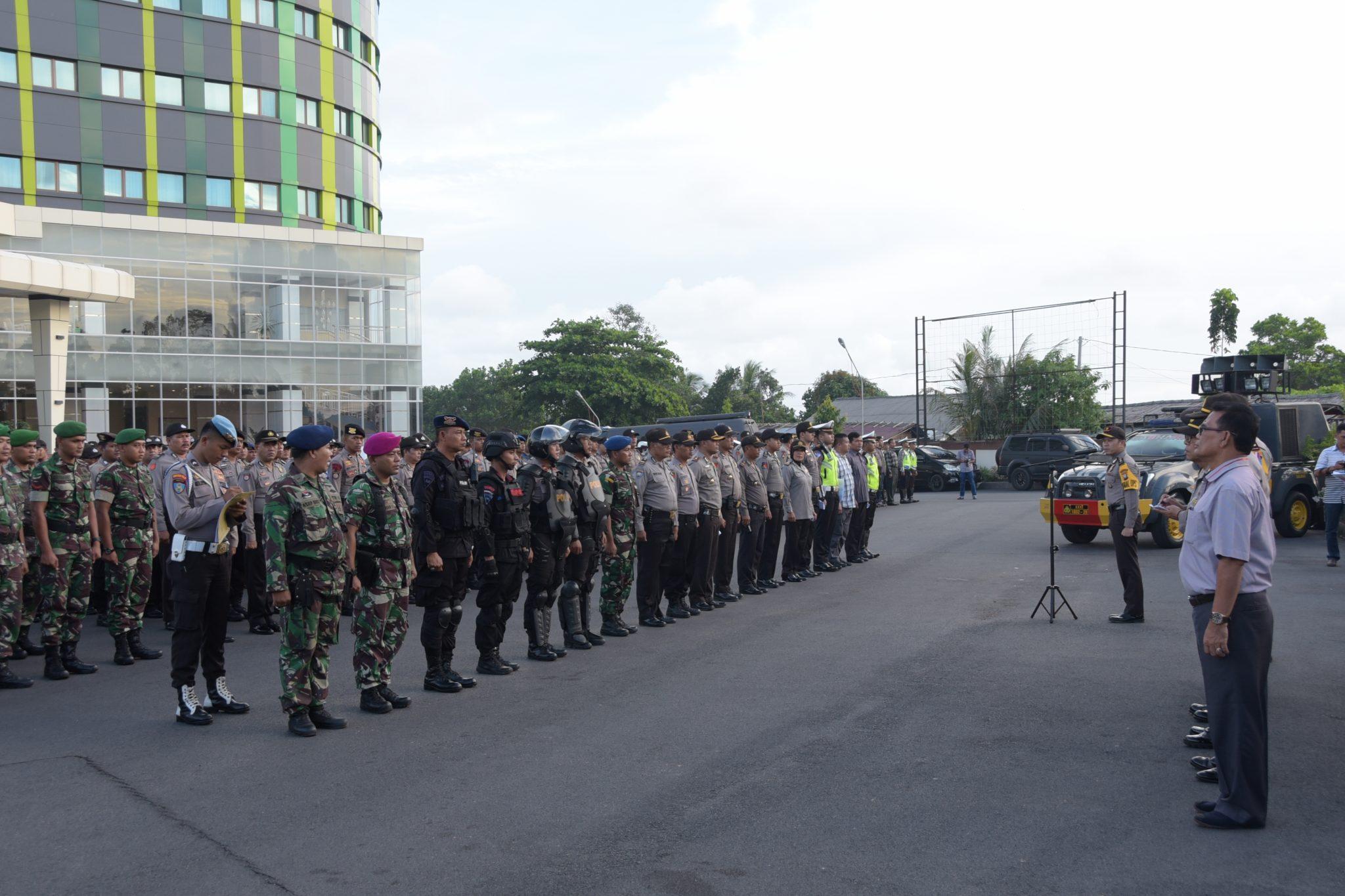 Lanud RHF Beserta Pasukan Gabungan TNI-Polri Sukses Amankan Debat Paslon Walikota dan Wakil Walikota Tanjungpinang