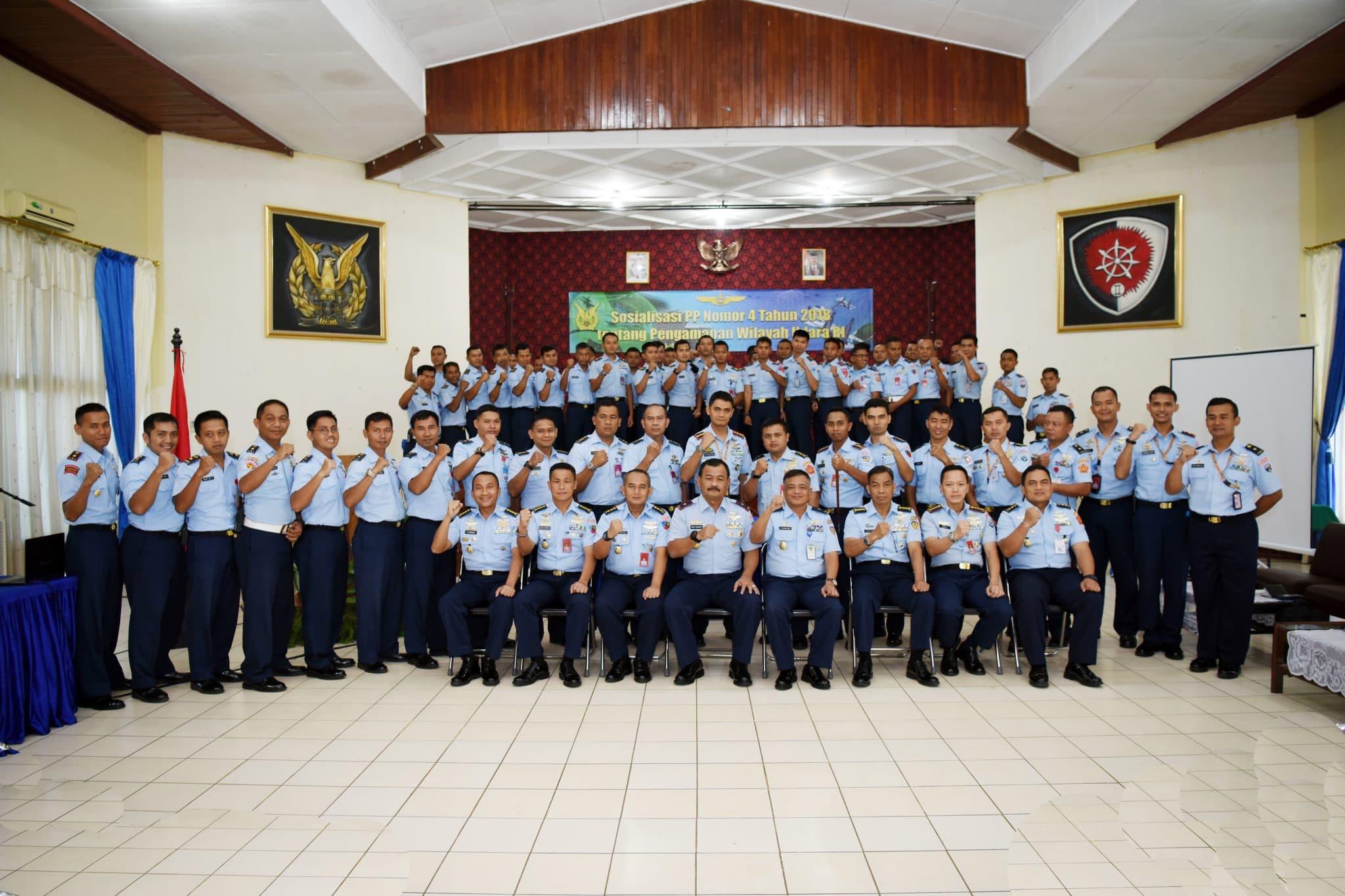 Sosialisasi Peraturan Pemerintah No.4 Tahun 2018 di Lanud Sultan Hasanuddin