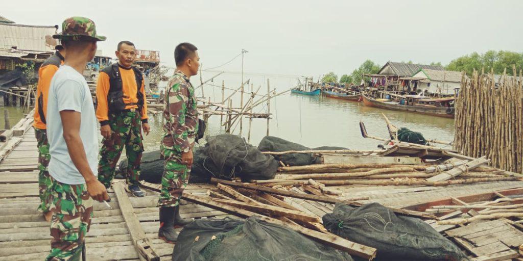 Lanud Pangeran M. Bun Yamin Melaksanakan Dukungan Siaga Bencana Alam Angin Puting Beliung.