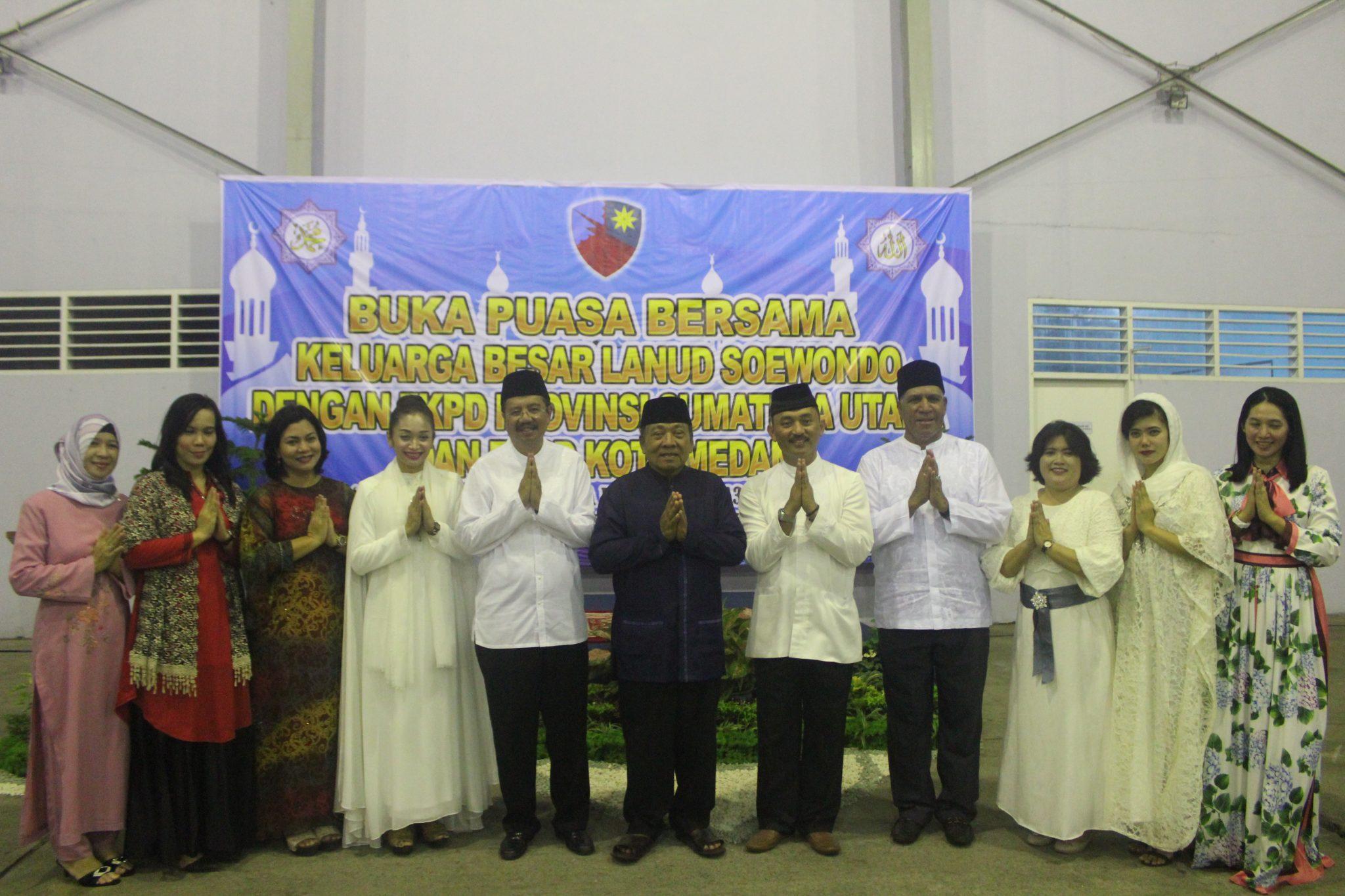 Buka Puasa Bersama Kel. Besar Lanud Soewondo Dengan FKPD Provinsi Sumut Dan FKPD Kota Medan
