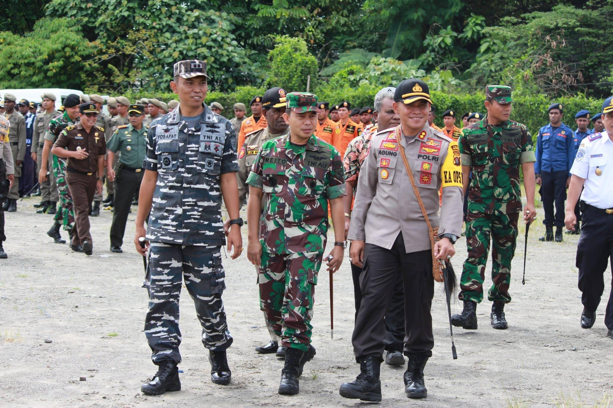 Pasukan Lanud Timika mengikuti Gelar Operasi Ketupat 2018
