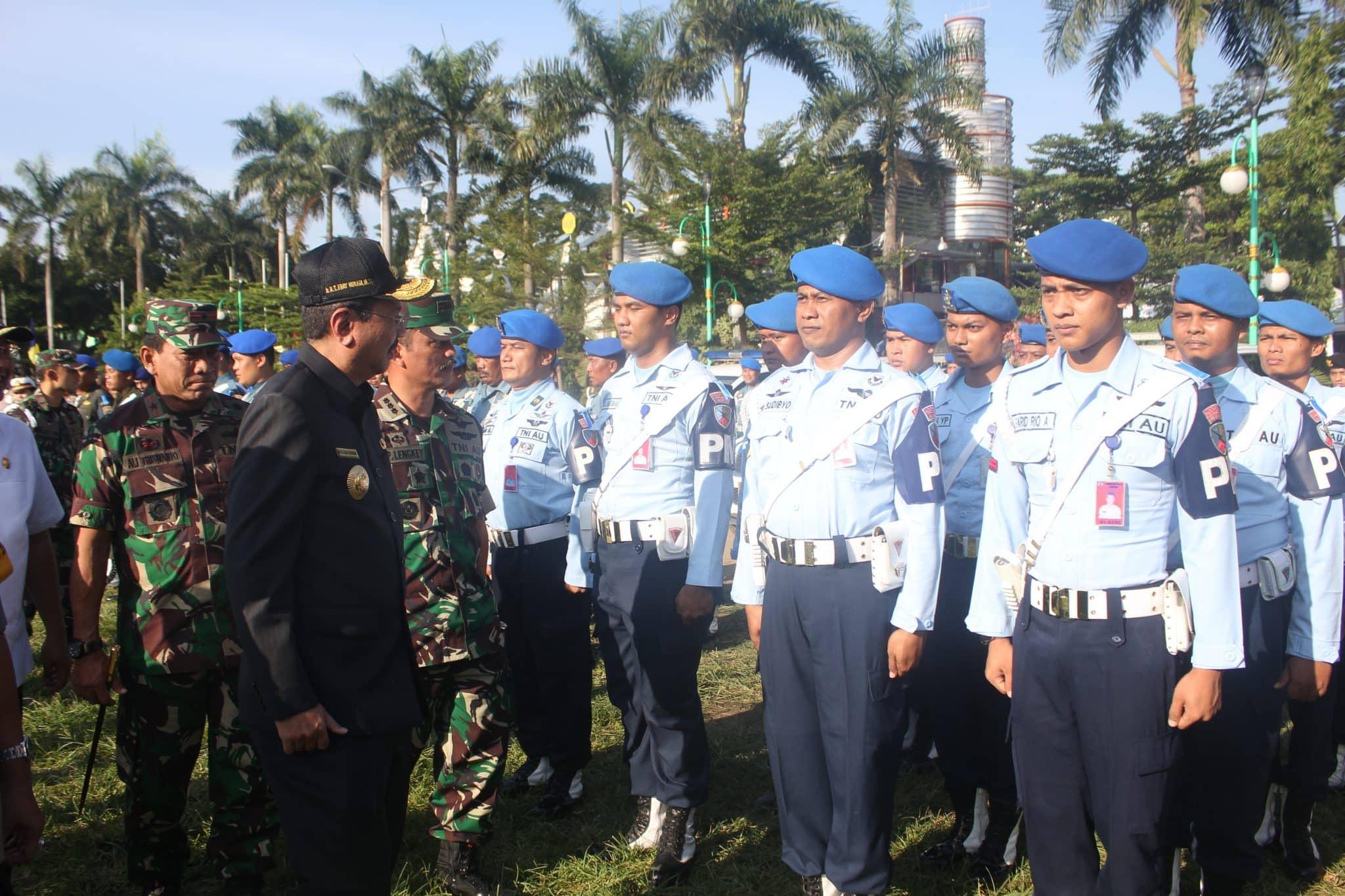 Danlanud Soewondo Hadiri Gelar Pasukan Ops Ketupat Toba 2018