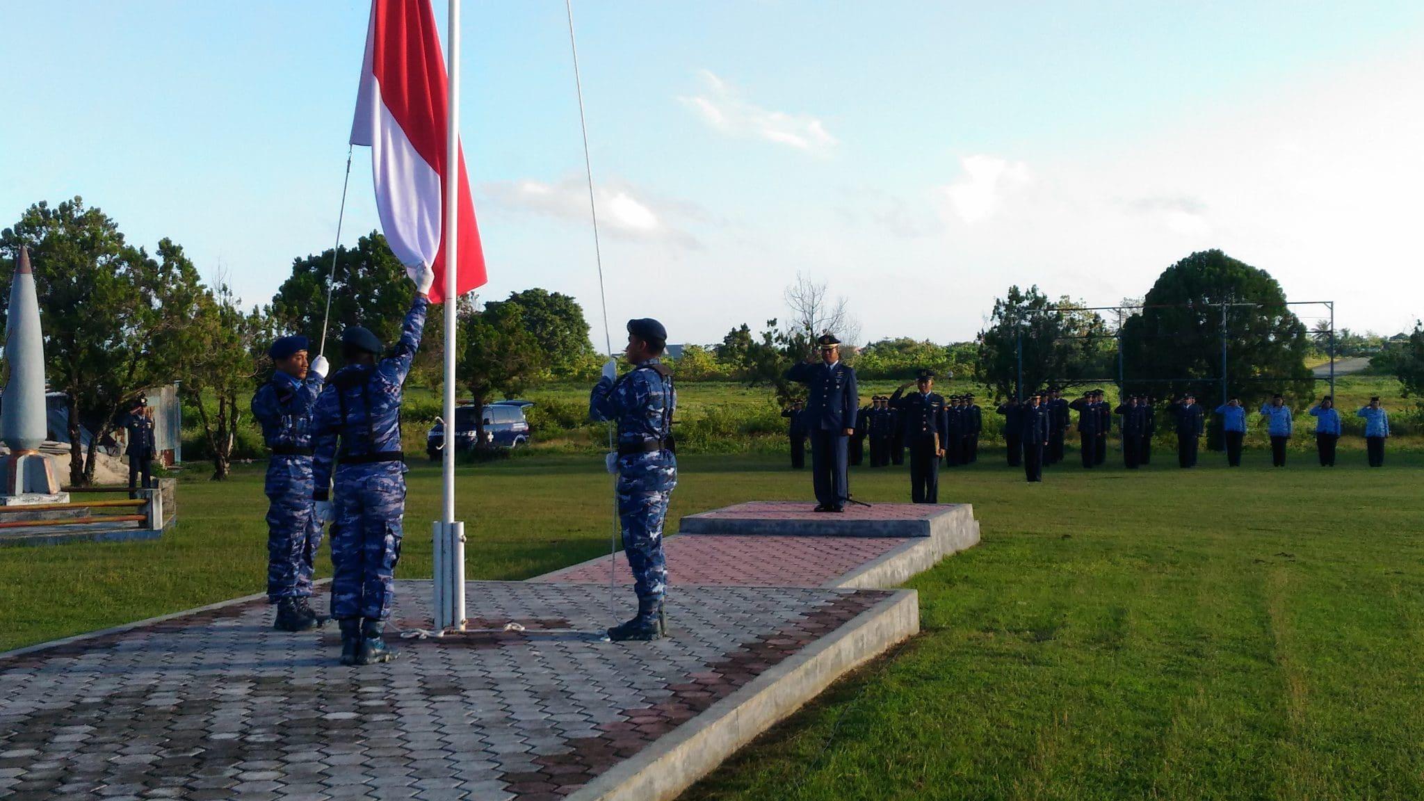 Upacara Peringatan Hari Lahir Pancasila 1 Juni 1945/2018 Di Lanud D. Dumatubun