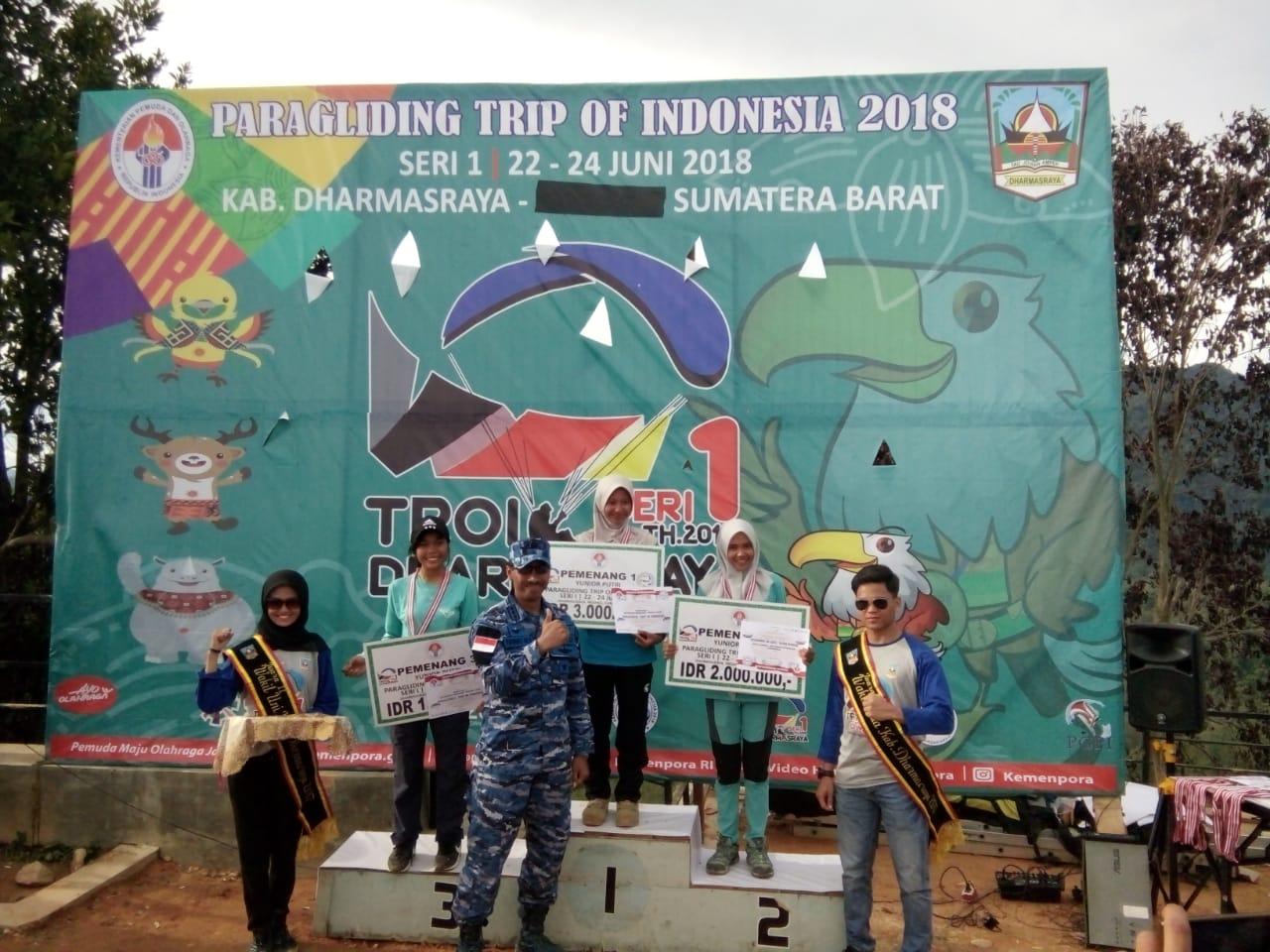 2 Anggota Abd Saleh Sabet Juara 2 Kejuaran Paragliding Trip On Indonesia