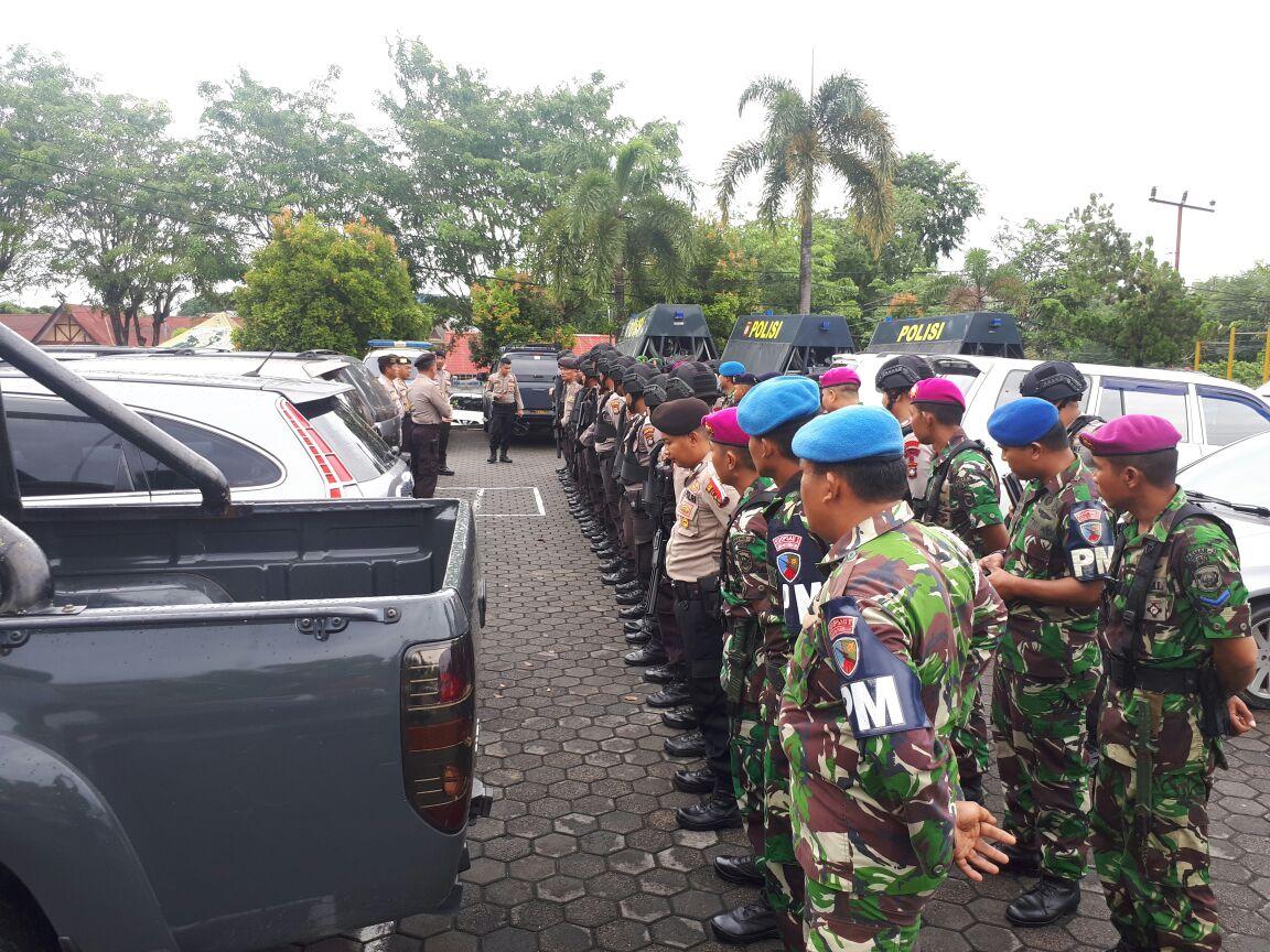 Jelang Pemilihan Walikota dan Wakil Walikota Tanjungpinang 2018, Pomau Lanud Raja Haji Fisabilillah Ikuti Apel Pengamanan dan Pengawalan Logistik Pemilu