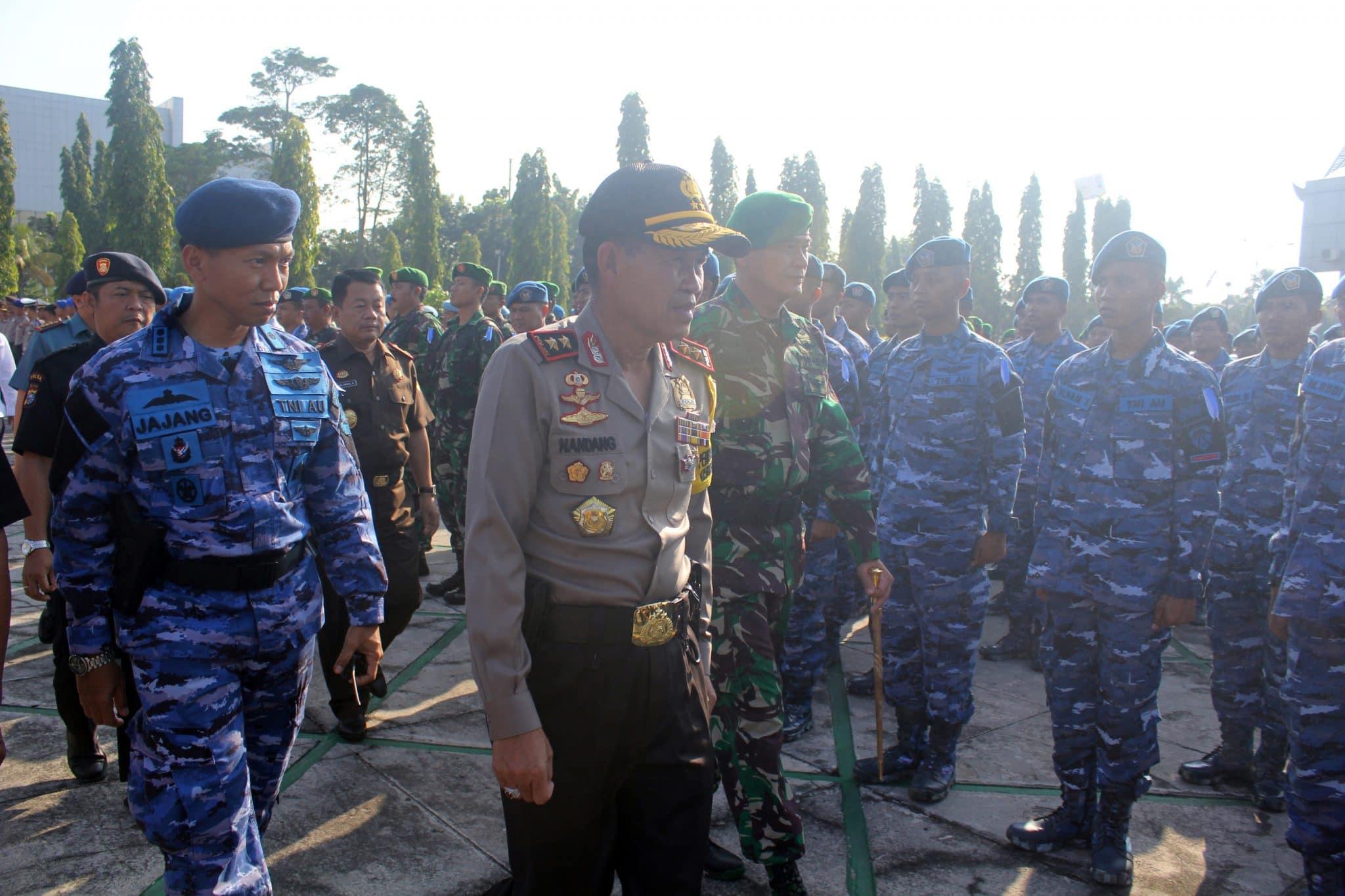 Personel Lanud Rsn Ikuti Apel Gelar Pasukan Pam Lebaran 2018