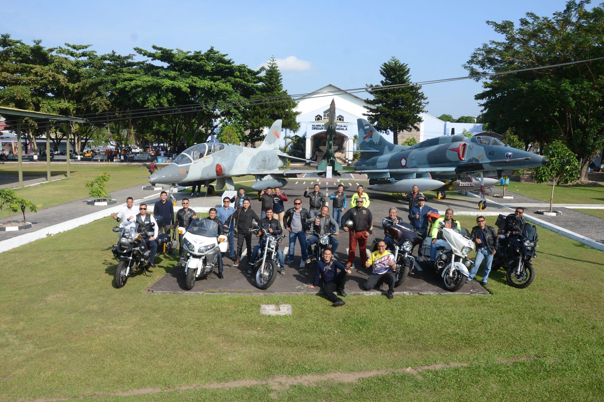 Morning Riding Bikers Integrasi TNI-Polri di Lanud Adisutjipto