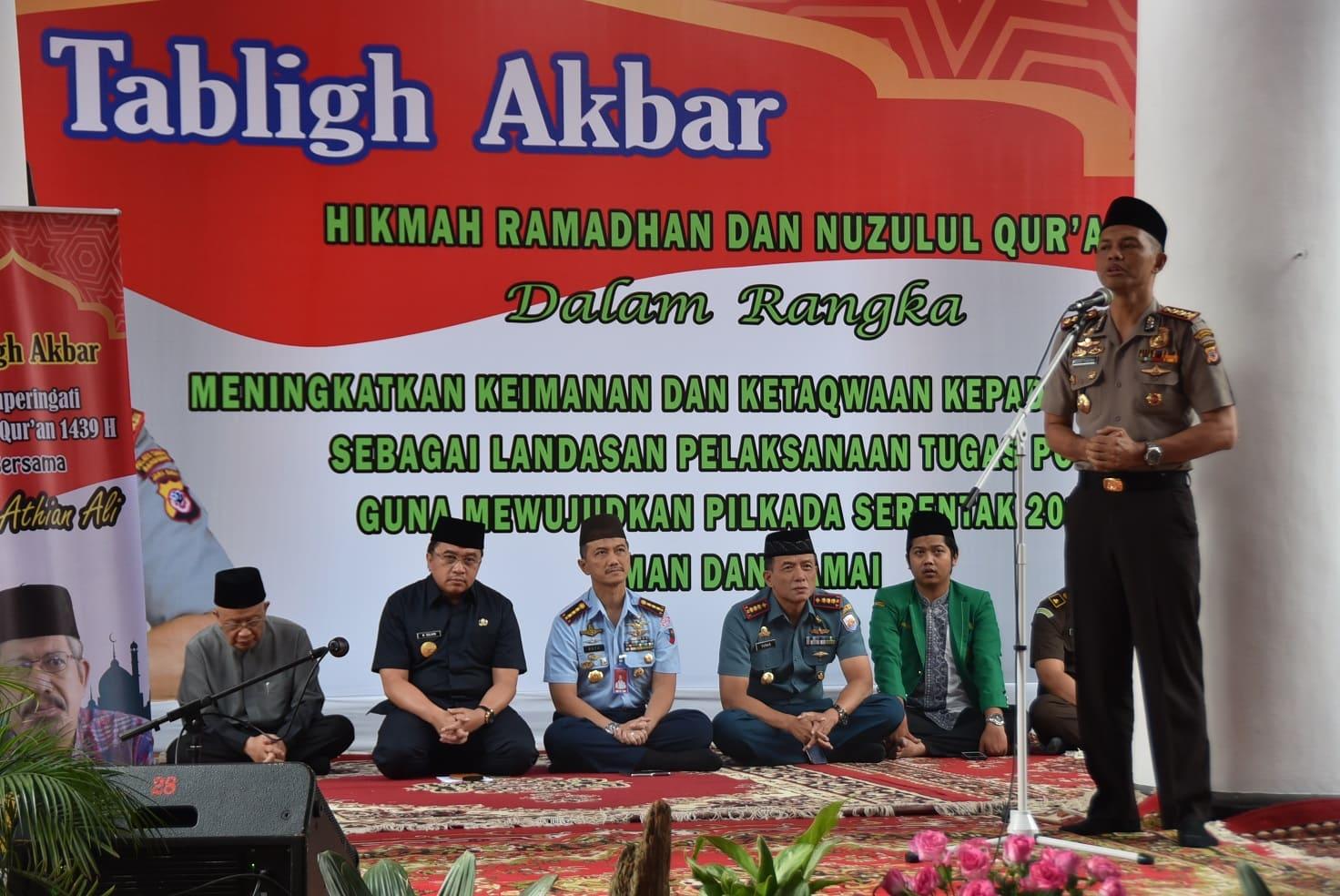Danlanud Husein Sastranegara Hadiri Tabligh Akbar Di Polrestabes Bandung