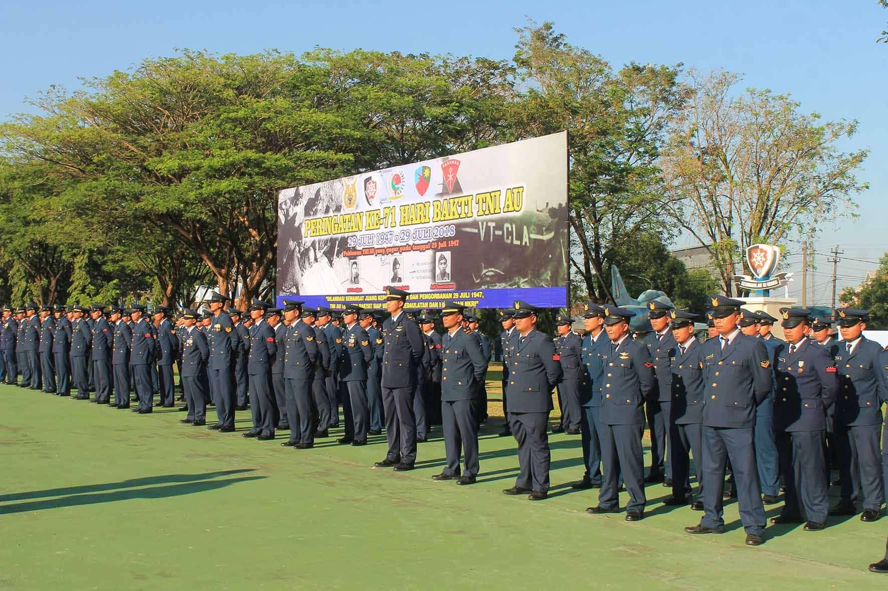 Jajaran Wing II Paskhas Peringati Hari Bhakti TNI AU Ke-71