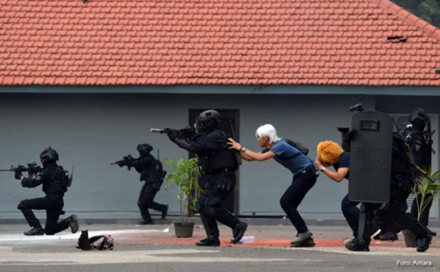 Satbravo 90 Paskhas Latihan Mitigasi Penanggulangan Aksi Terorisme