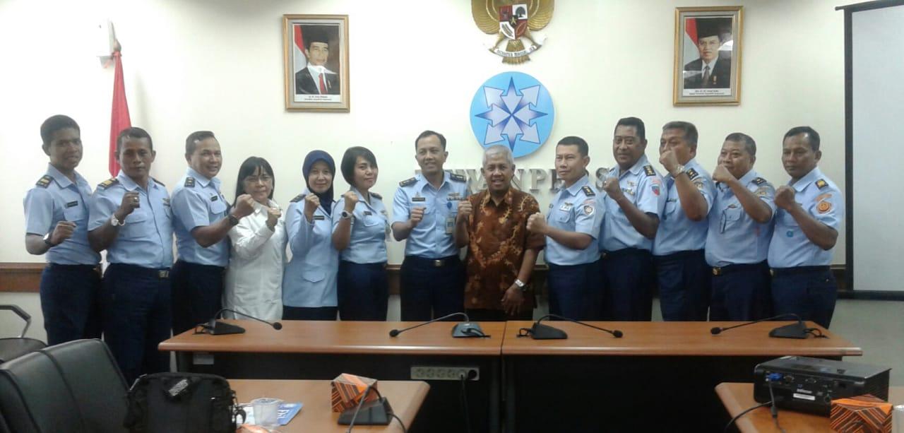 Tingkatkan Pengetahuan, Pasis Suspa Humas TNI AU Audiensi ke Dewan Pers