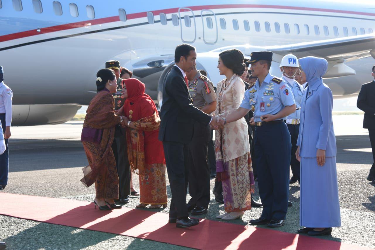 Danlanud Husein Sastranegara Sambut Kedatangan Presiden Republik Indonesia