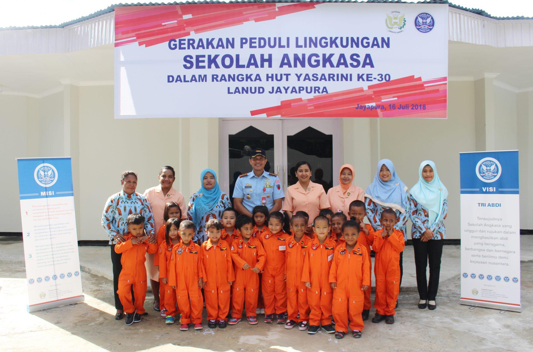 Penerimaan Murid TK Angkasa Lanud Jayapura