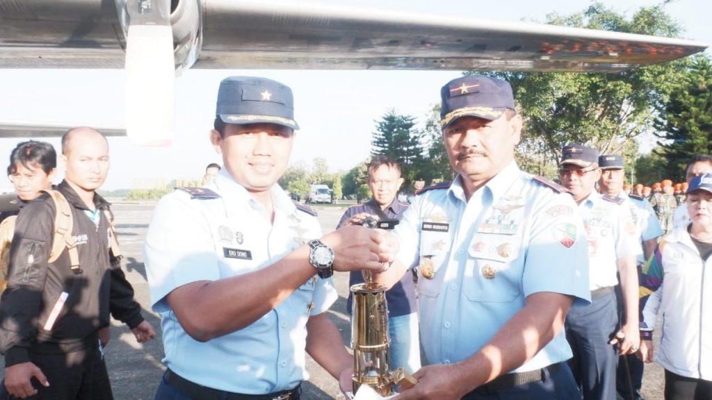 Hercules TNI AU Bawa Api Asian Games ke Banjarmasin