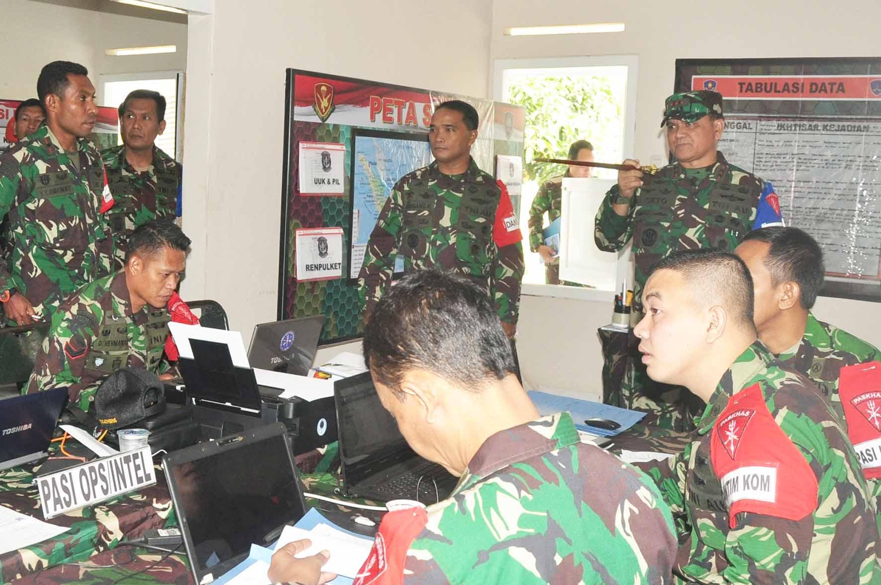 Komandan Satuan Paskhas Asah Kemampuan Taktik Bertempur