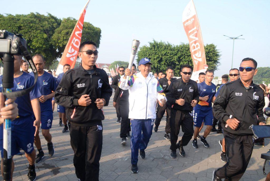 Danlanud Adisutjipto Turut Serta Bawa Obor Asian Games 2018 Di Yogyakarta